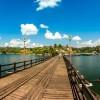 ภาพถ่าย Panorama สะพานมอญ กาญจนบุรี